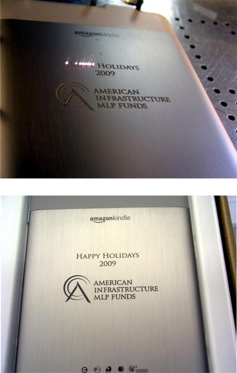 laser engraved amazon kindle corporate logo
