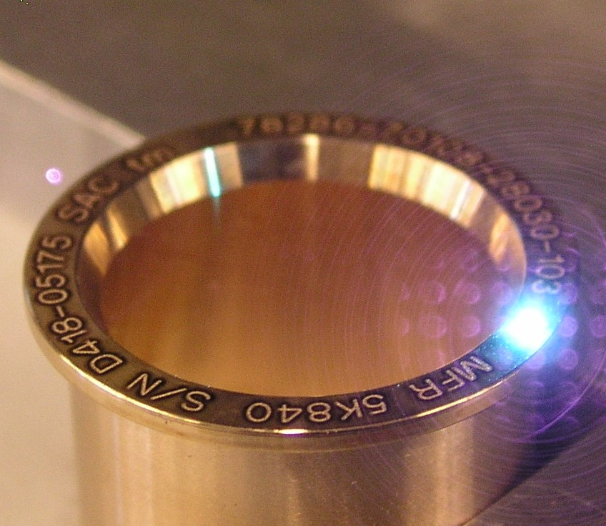 industrial laser engraving on parts for high volume production