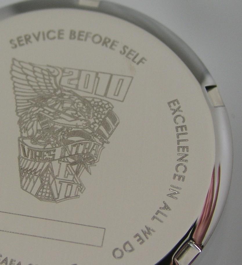 engraved watch case by laser engraver Laser Impressions