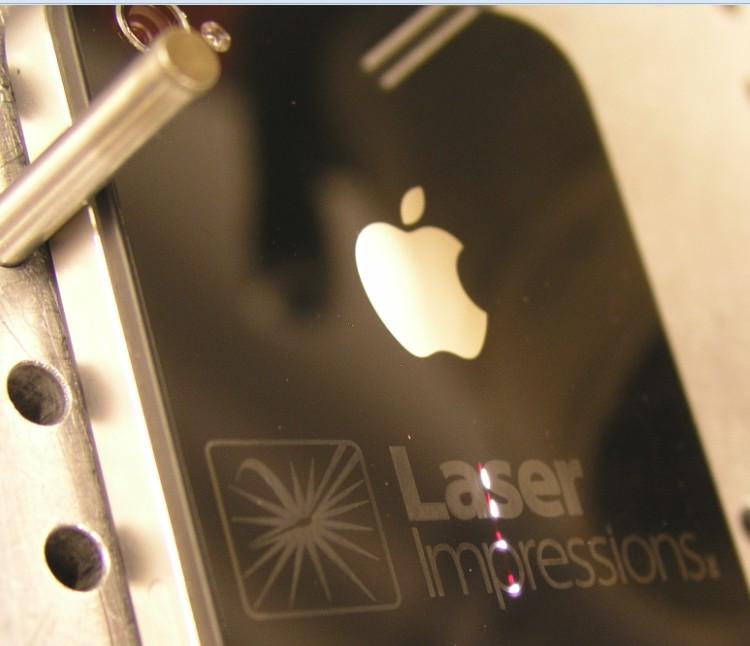 laser engraving iphone ipad