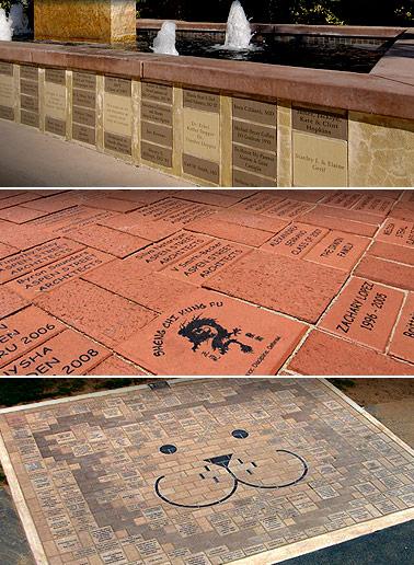 Laser Engraved Bricks from Laser Impressions
