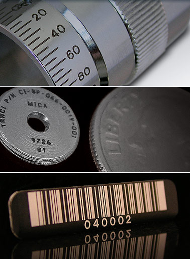 industrial laser marking on parts and components