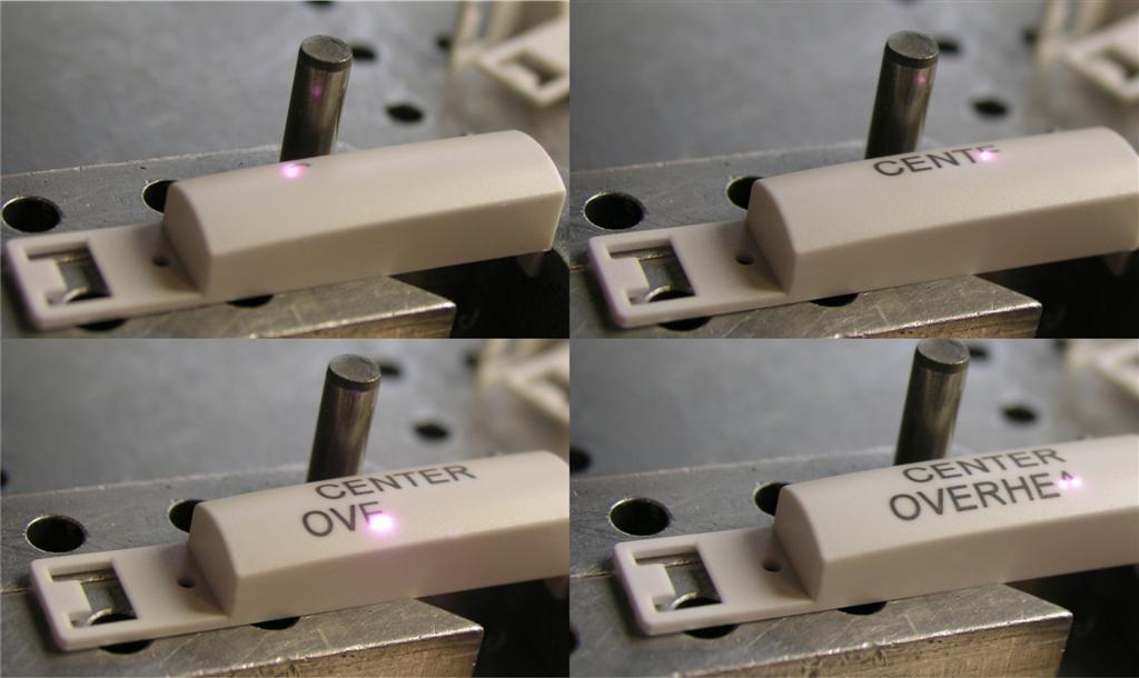 laser marking on plastic or delrin
