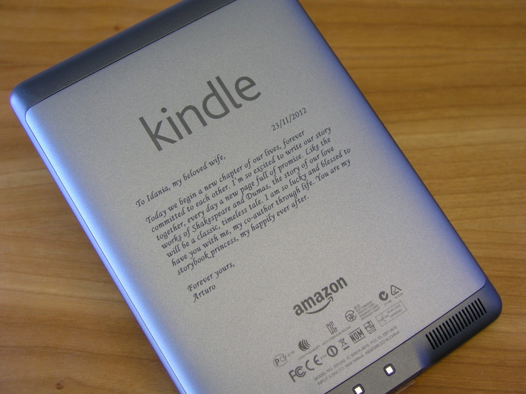 laser marking an amazon kindle
