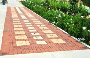Laser Engraved Bricks Fundraising Campaign Installed